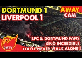 Liverpool & Dortmund Fans Sing Incredible You'll Never Walk Alone | Away End Cam