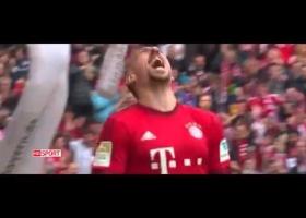 Bayern Munich vs Eintracht Frankfurt 1-0 Franck Ribery Fantastic Bicycle Goal ~ 2/4/2016